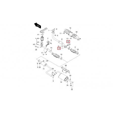 Подушка глушителя Леганза GM 96351182