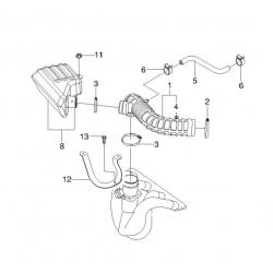 Шланг (гофра) воздушного фильтра Леганза GM