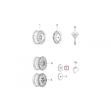 Колпак литого диска Леганза GM 96225821