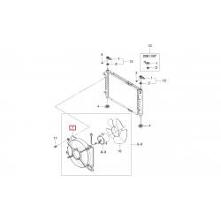 Диффузор радиатора Матиз М150 GM