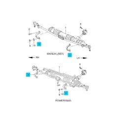 Скоба крепления рулевого механизма левая GM
