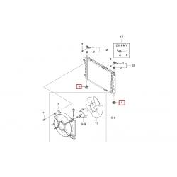 Подушка основного радиатора охлаждения нижняя Матиз GM