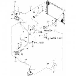 Шланг радиатора верхний Авео 1.5 (МКПП) после 09 OE