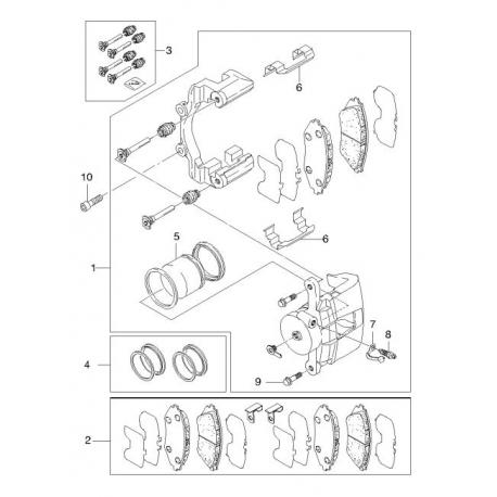 Поршень цилиндра суппорта Эпика Эванда передний Autofren D025506