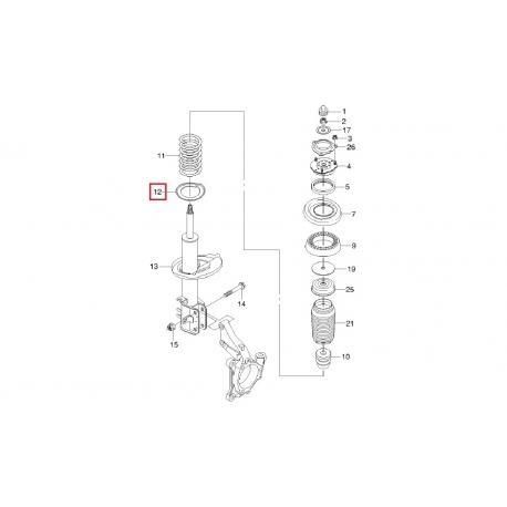 Прокладка (проставка) передней пружины нижняя Эпика Эванда GM 96328541