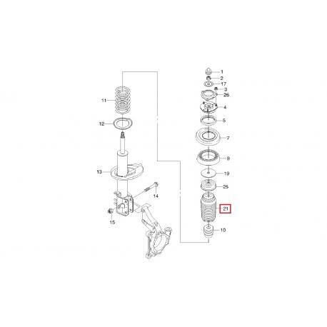 Чехол переднего амортизатора Эпика Эванда GM 96328566