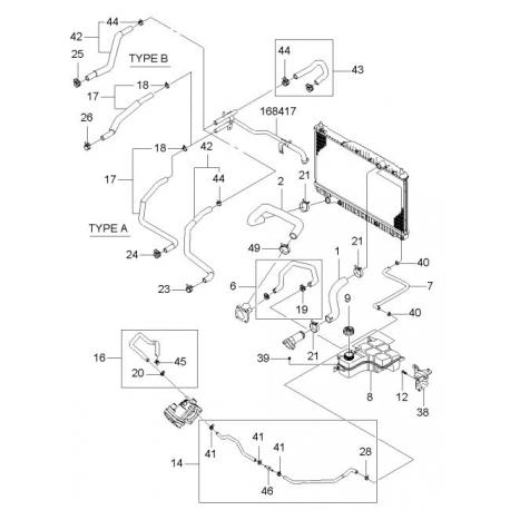 Шланг от расширительного бачка к радиатору Эпика GM 96553418