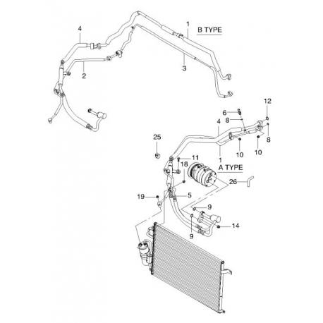 Трубка кондиционера выпускная Эпика GM 96471947