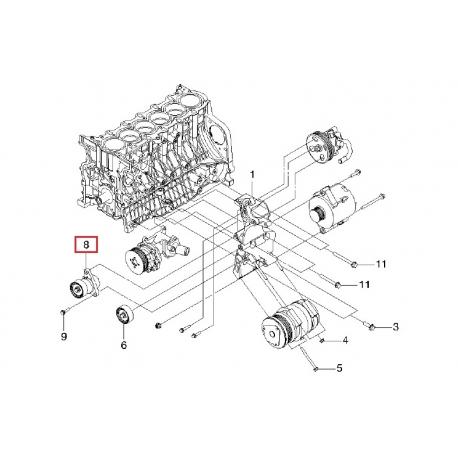 Ролик ремня генератора в сборе с кронштейном Эпика GM 96498019