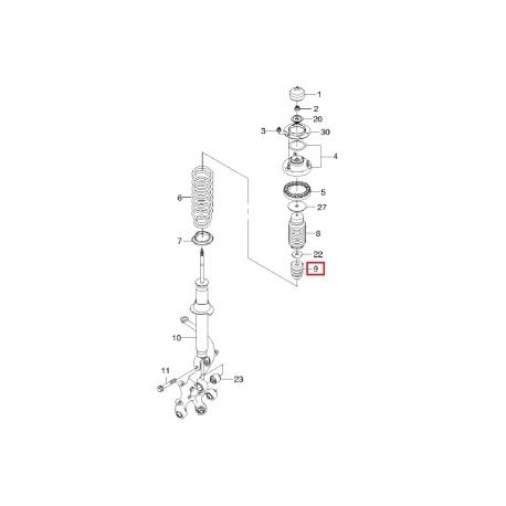 Буфер сжатия заднего амортизатора (отбойник) Эпика Эванда FEBEST CHD-V250R