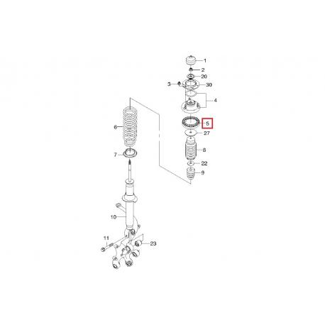 Прокладка задней пружины верхняя Эпика Эванда GM 96328471
