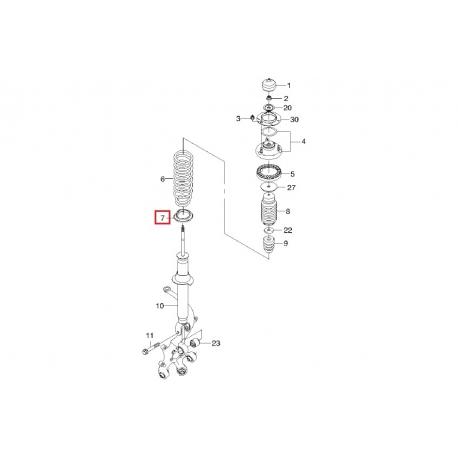 Прокладка задней пружины нижняя Эпика Эванда GM 96328470