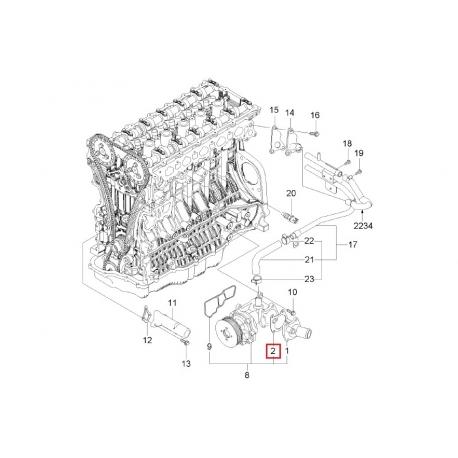 Прокладка корпуса термостата Эпика GM 96307779