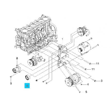 Ролик ремня генератора Эпика Gates T36409