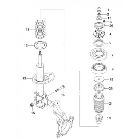 Опора амортизатора верхняя GM Эпика Эванда 96945329