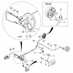 Трубка тормозная задняя левая 2-я Авео T200, T250, T255 с ABS GM (96407747)