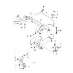 Стойка стабилизатора передняя левая Эванда Леганза CTR