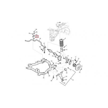 Втулка стабилизатора передняя Каптива C140 GM 20921403
