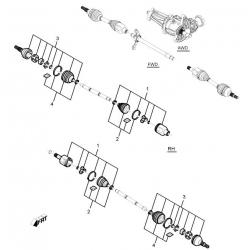 Чохол напіввісі (пильовик) зовнішній Каптива FEBEST