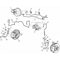 Шланг гальмівний передній Каптива лівий GM