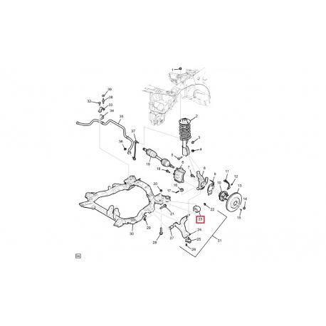 Сайлентблок переднего рычага задний Каптива GM 96809676