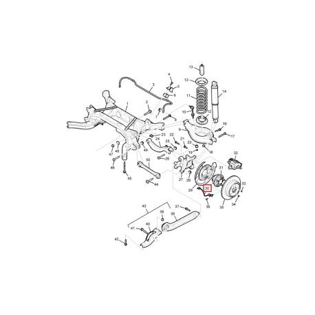 Датчик ABS задний Каптива GM 96626080