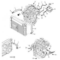 Патрубок радіатора нижній Каптива 2.0 дизель Bosung