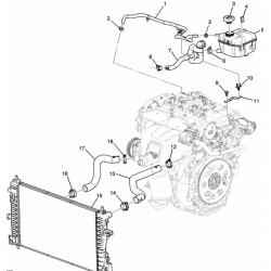 Крышка расширительного бачка Авео Т300 Круз GATES