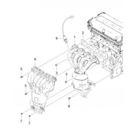 Прокладка выпускного коллектора Круз 1.6- 1.8 GM 55573805