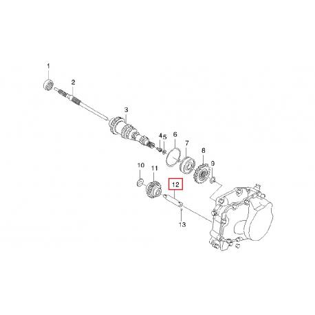 Вал (ось) промежуточной шестерни заднего хода GM 94580634