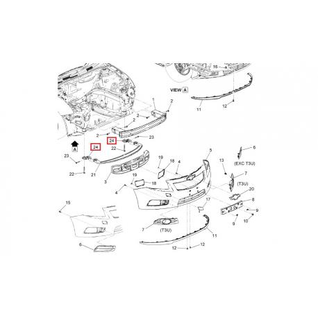Кронштейн бампера переднего правый Круз седан, хэтчбек GM 94816321
