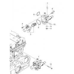 Прокладка корпусу термостата Авео Т300 Круз GM