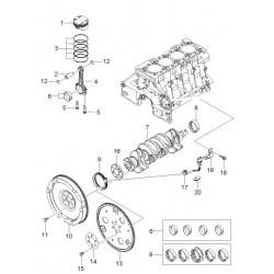 Манжета (сальник) к/вала задний c обоймой под ДПКВ 1.4LDT, 1.6LDE, 1.8H20 GM