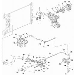 Патрубок радіатора впускний Круз DYС