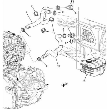Патрубок печки Круз с 2011 выпускной GM 95390887