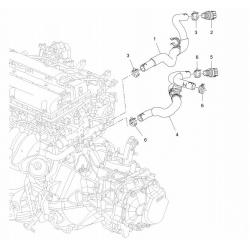 Патрубок грубки Круз до 2011 випускний GM