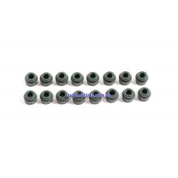 Манжеты (сальники) клапанов 1.8, 1.8 LDA, 2.0, 2.2 Elring (к-т, 16 шт.)