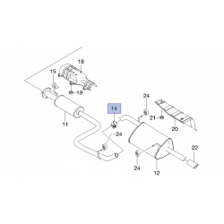 Хомут (зажим) соединения глушителя с резонатором Нубира GM