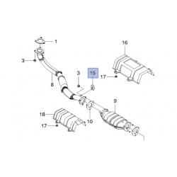 Подушка приемной трубы и резонатора Такума Нубира J100 GM