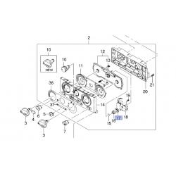 Контакт валика управления скоростью вентилятора Ланос GM