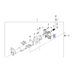 Корпус переключателя сигналов на рулевой колонке Ланос без подушки GM