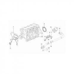 Прокладка (кольцо) впускной трубки масляного фильтра 1.4 LDT, 1.6 LDE, 1.8 2H0 GM