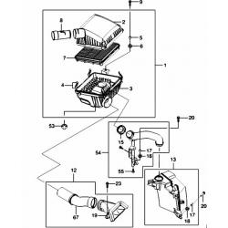 Корпус воздушного фильтра (верхняя часть) Эванда 2.0 GM