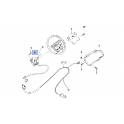 Контакт (кольцо) сигнала подрулевой Ланос под подушку безопасности GM
