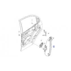 Стеклоподъёмник механический задний правый Авео Т250 GM