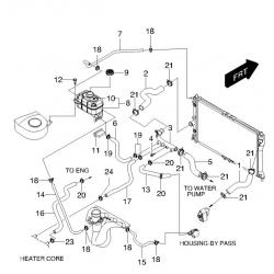 Патрубок розширювального бачка Леганза GM
