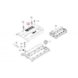 Накладка клапанной крышки Авео 1.6 GM