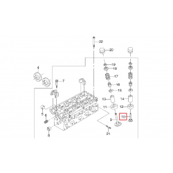 Клапан випускний 1.8-2.0 2.2 рем. +0.15 GM