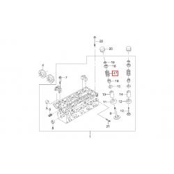 Пружина клапана впускного и выпускного Лачетти Нубира Такума Леганза Эванда 1.8-2.0 2.2 Каптива 2.4