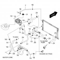 Патрубок радіатора нижній Леганза GM